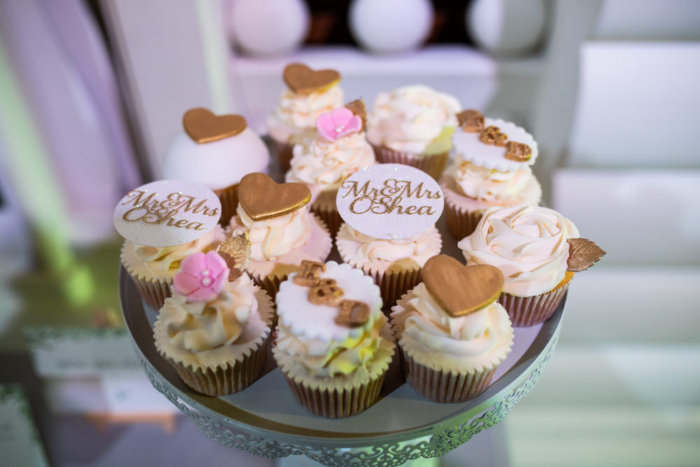 Mr & Mrs Cupcakes Watercolour Wedding Kerry Ann Duffy Photography