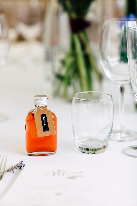 Mini Bottle Favours Barff Country House Wedding Sarah Beth Photo