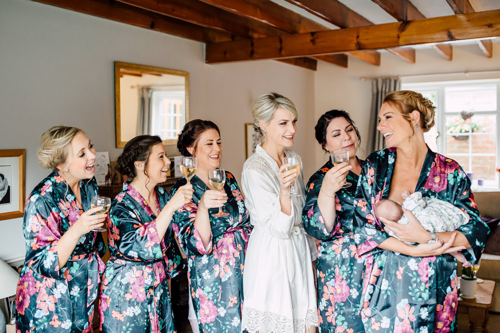 Bride Bridal Bridesmaids Dressing Gowns Robes Barff Country House Wedding Sarah Beth Photo
