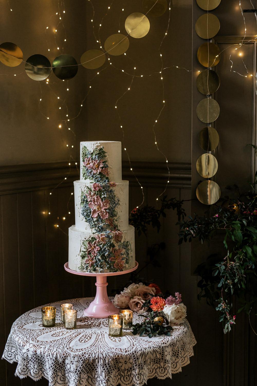 Cake Buttercream Flowers Table Blush Pink Wedding Ideas Meghan Lorna