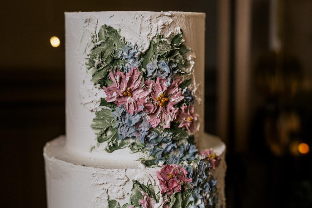 Cake Buttercream Flowers Blush Pink Wedding Ideas Meghan Lorna