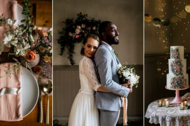 Romantic Blush Pink Wedding Ideas with Candles & Fairy Lights