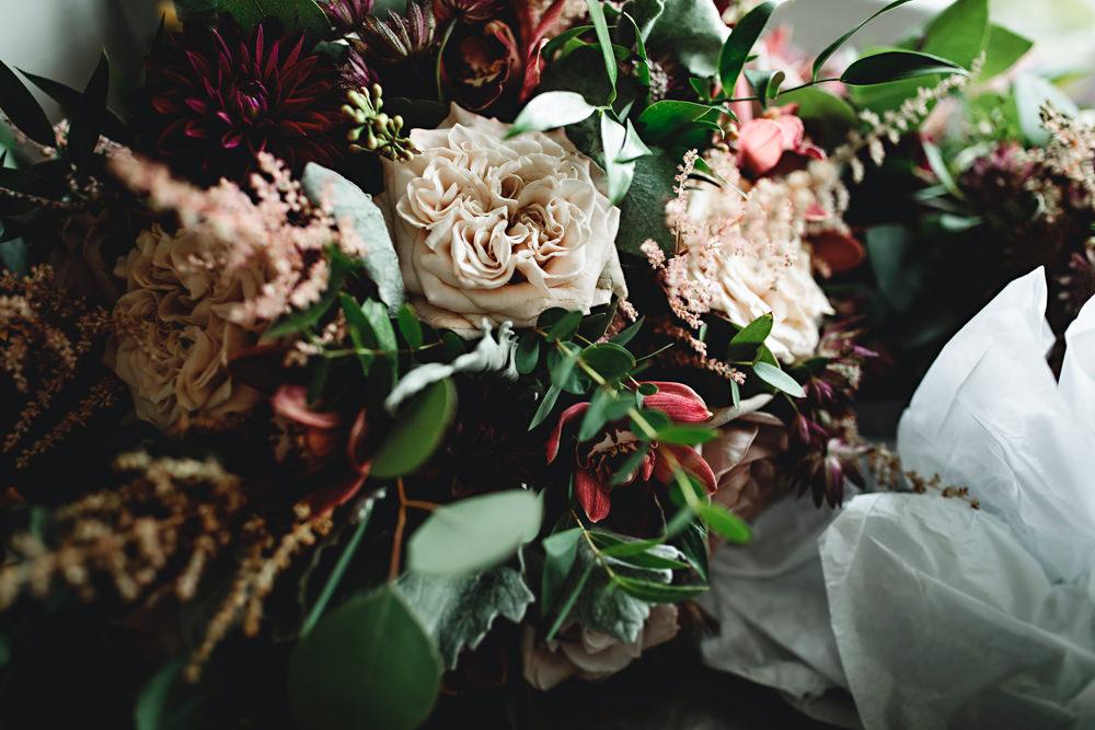 Bouquet Flowers Bride Bridal Rose Astilbe Dahlia Blush Burgundy Calke Abbey Wedding HBA Photography