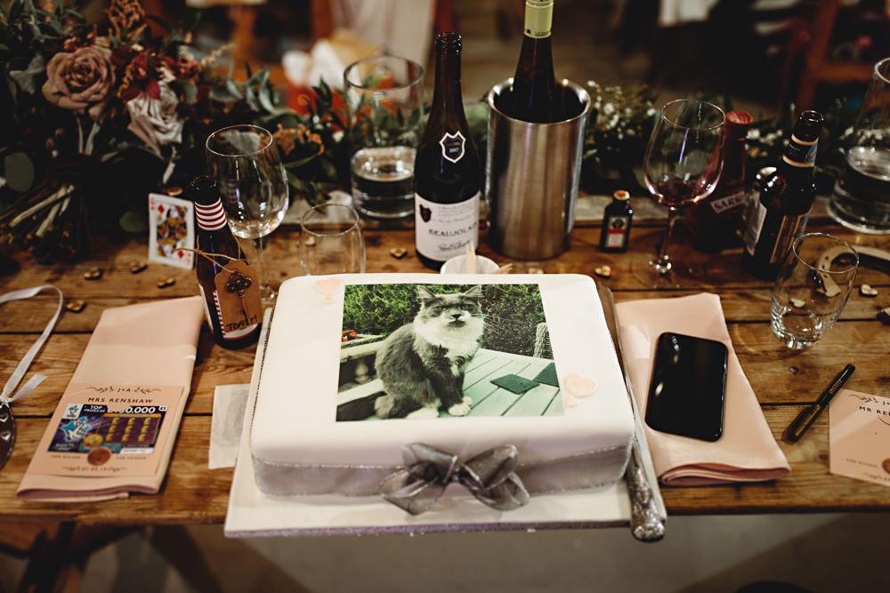 Cake Picture Photo Calke Abbey Wedding HBA Photography