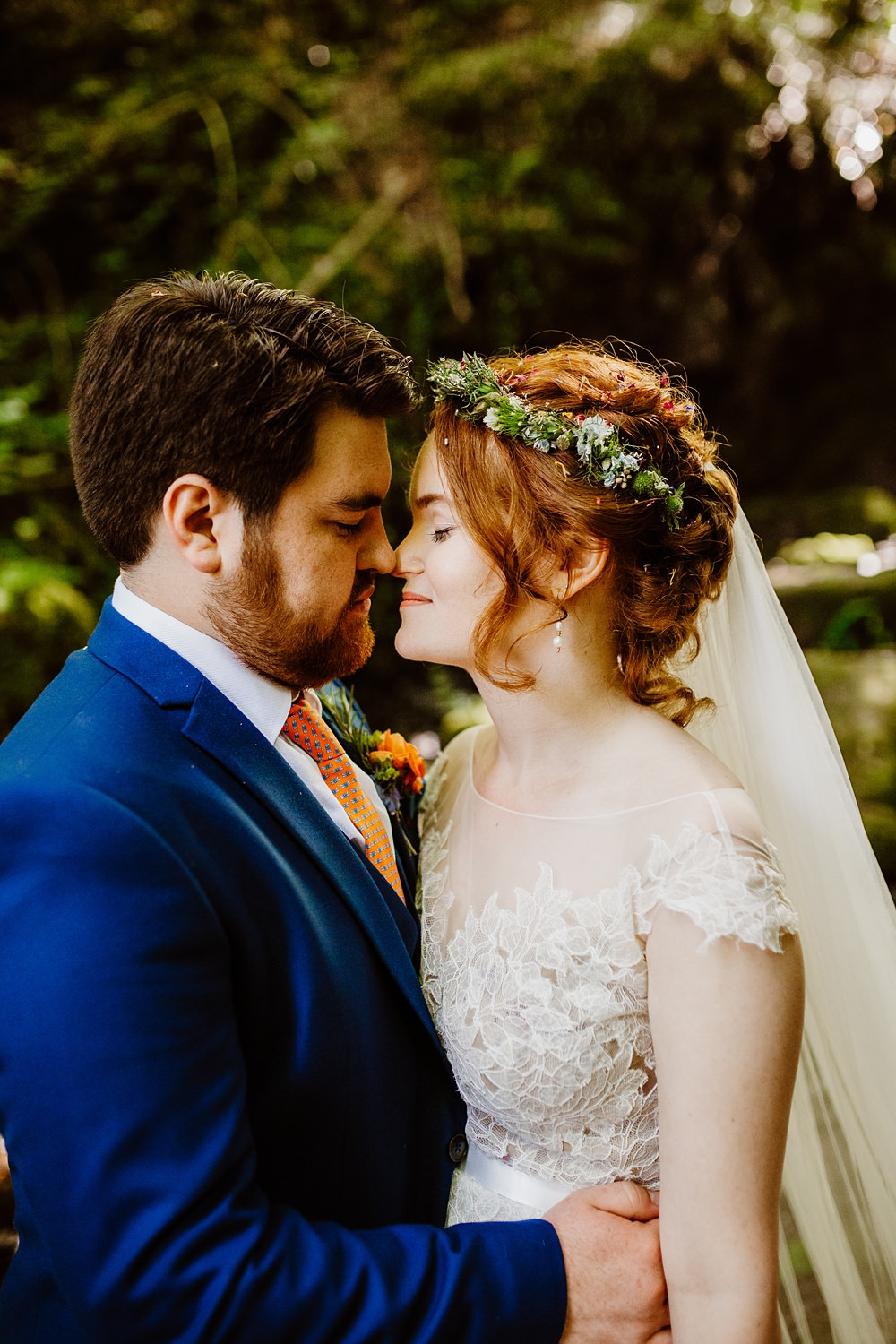Flower Crown Bride Bridal Canonteign Falls Wedding Holly Collings Photography