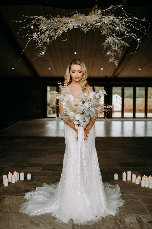 Dress Gown Bride Bridal Sequins Tulle Celestial Wedding Ideas Christine Thirdwheeling