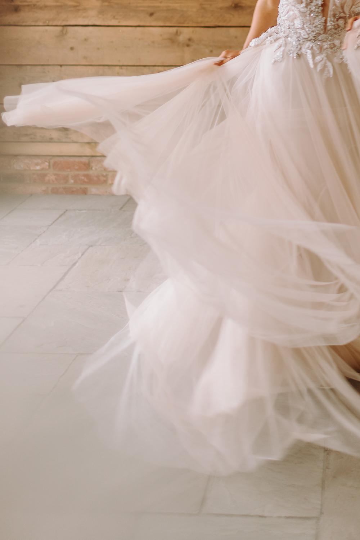 Tulle Dress Gown Bride Bridal Skirt Celestial Wedding Ideas Christine Thirdwheeling