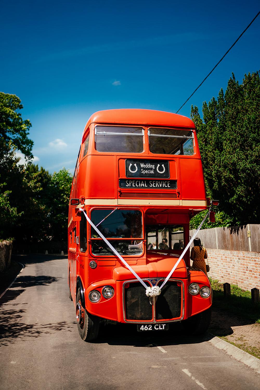 Double Decker Bus Transport Clock Barn Wedding Angela Ward Brown