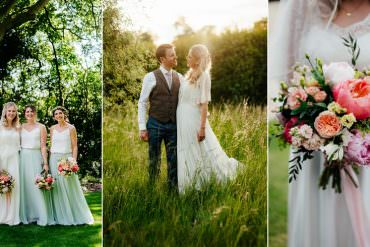 Colourful Country Boho Barn Wedding
