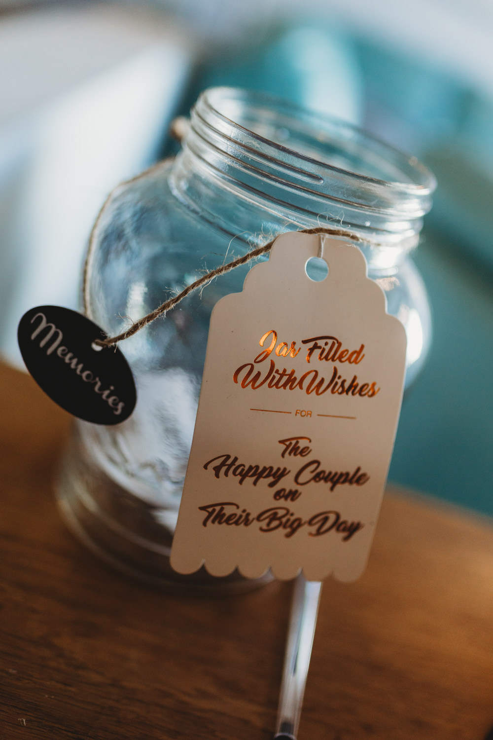Wish Jar Guest Book Crug Glas Country House Wedding Simon Murray Images