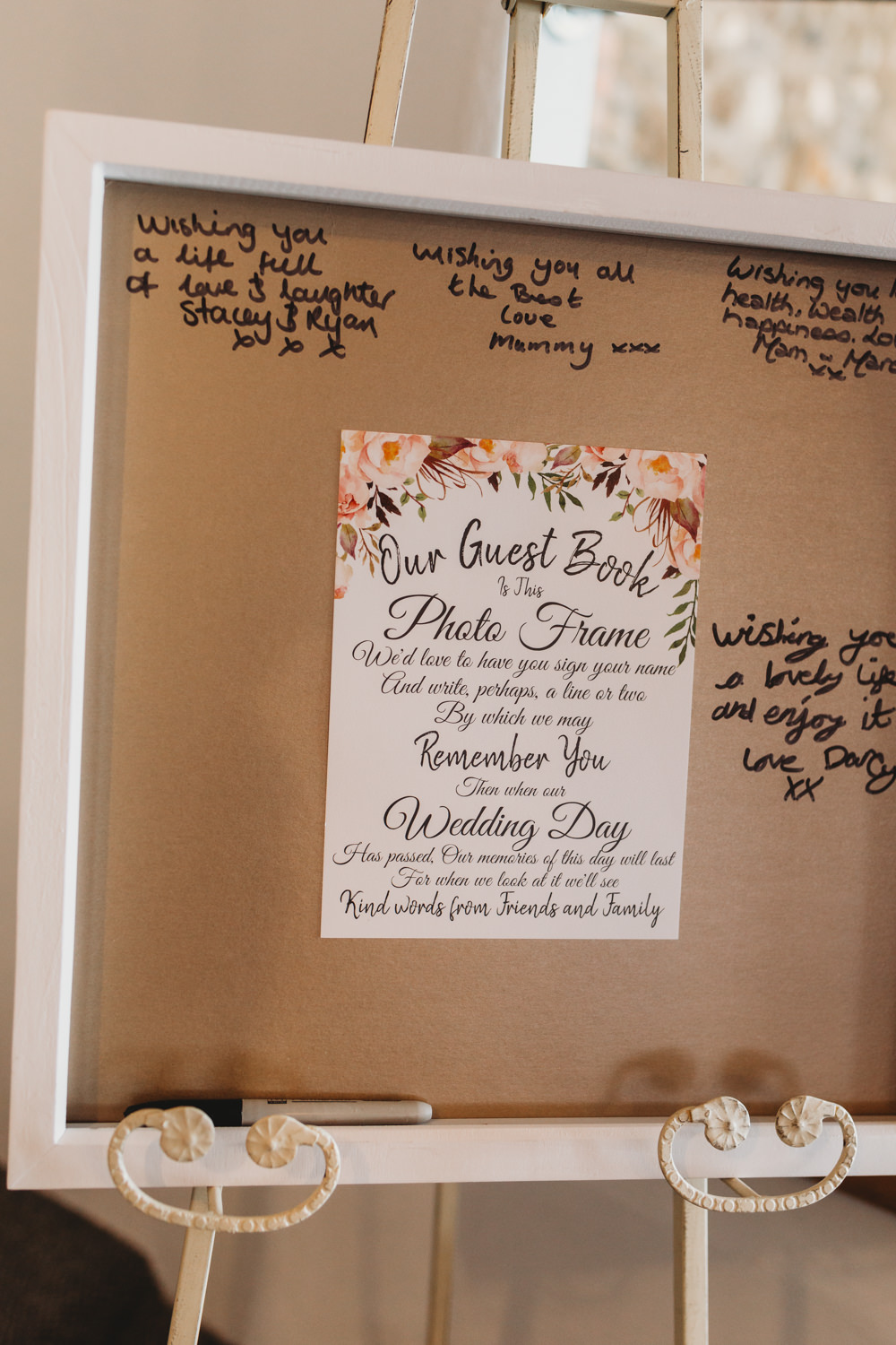 Guest Book Frame Crug Glas Country House Wedding Simon Murray Images