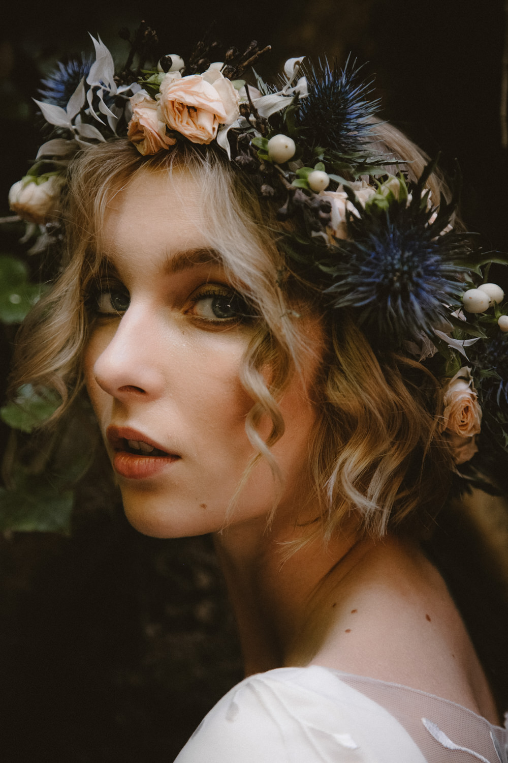 Bride Bridal Flower Crown Make Up Ethereal Candlelit Wedding Ideas Ortica Wedding