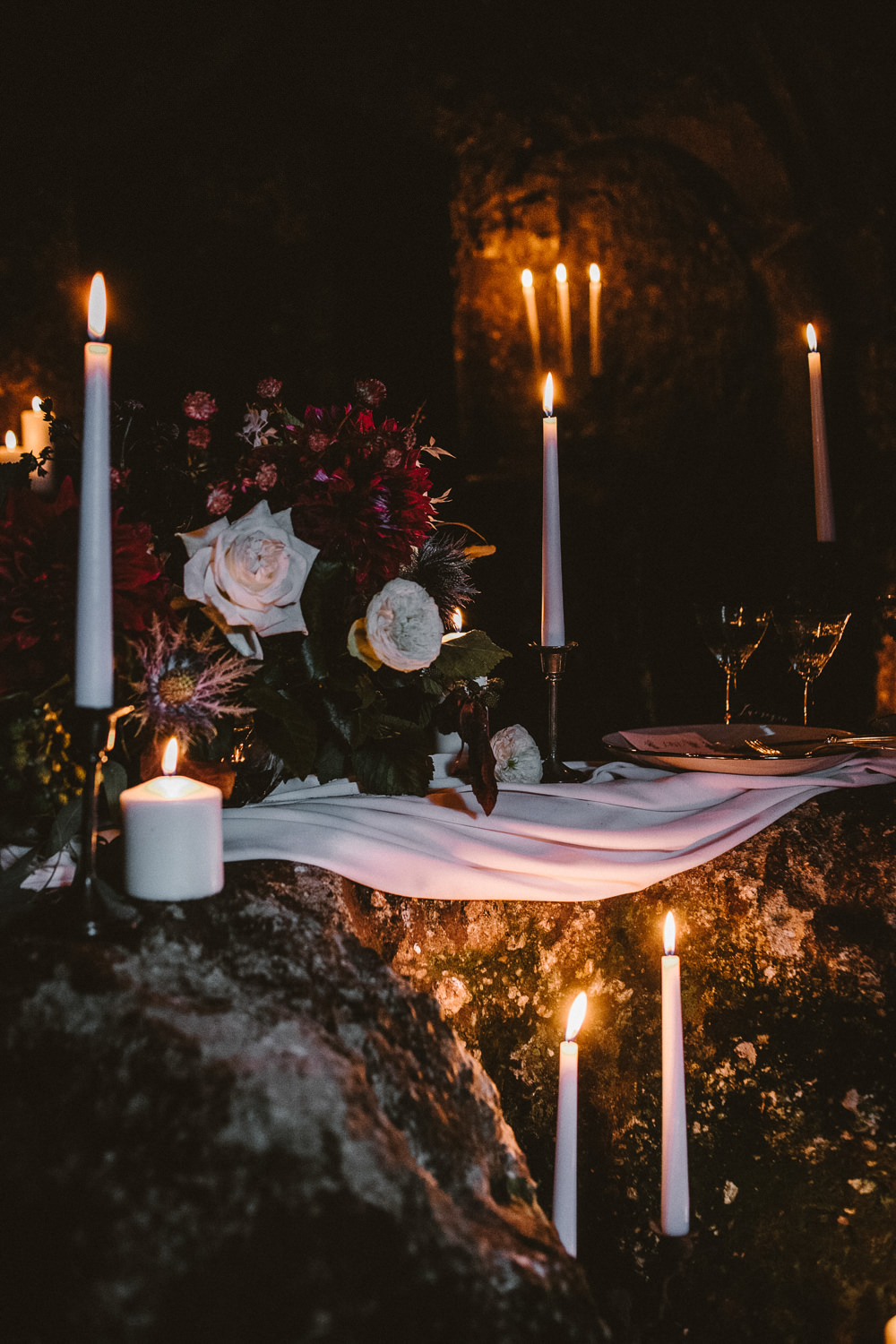 Candles Decor Decoration Flowers Ethereal Candlelit Wedding Ideas Ortica Wedding