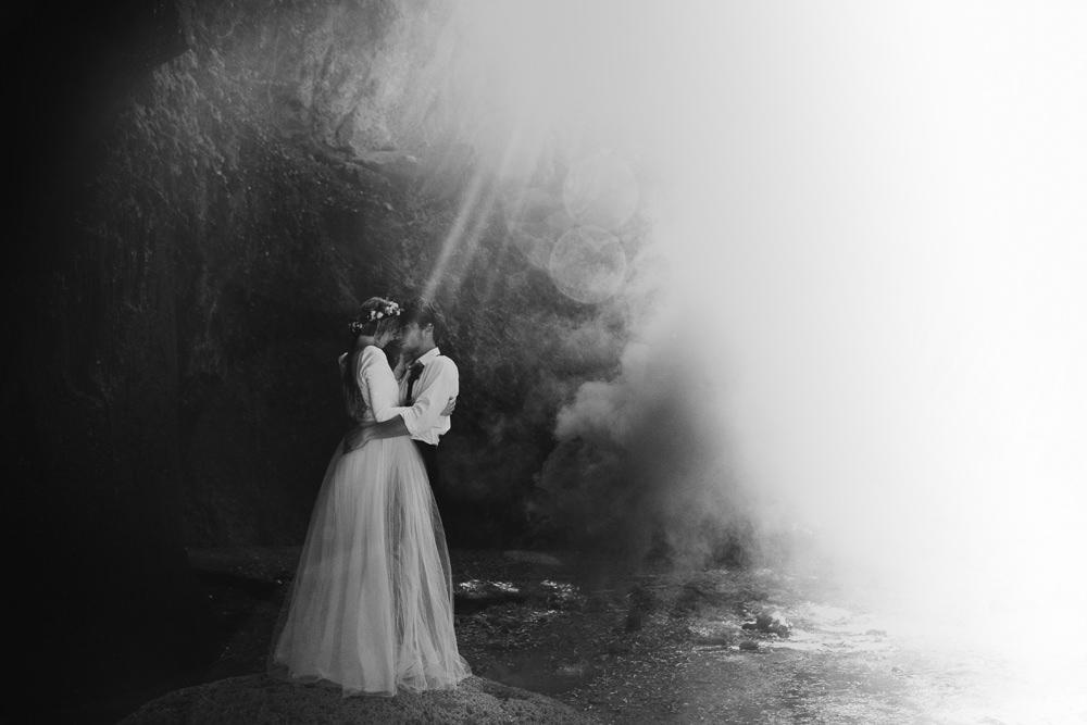 Smoke Bomb Photo Photographs Portraits Ethereal Candlelit Wedding Ideas Ortica Wedding