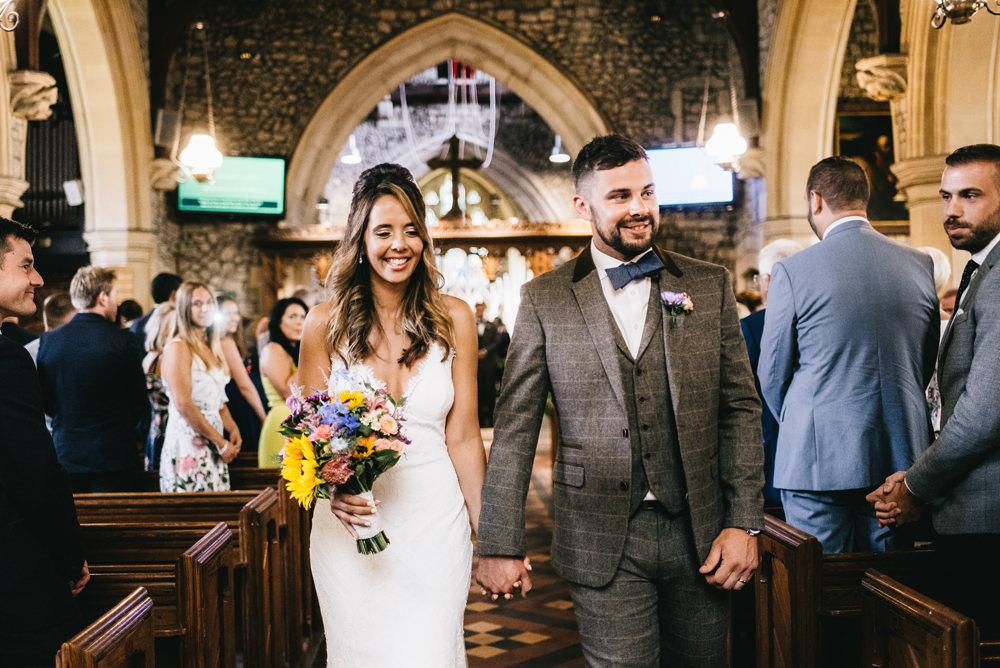 Groom Tweed Suit Bow Tie Farm Wedding Alex Tenters Photography