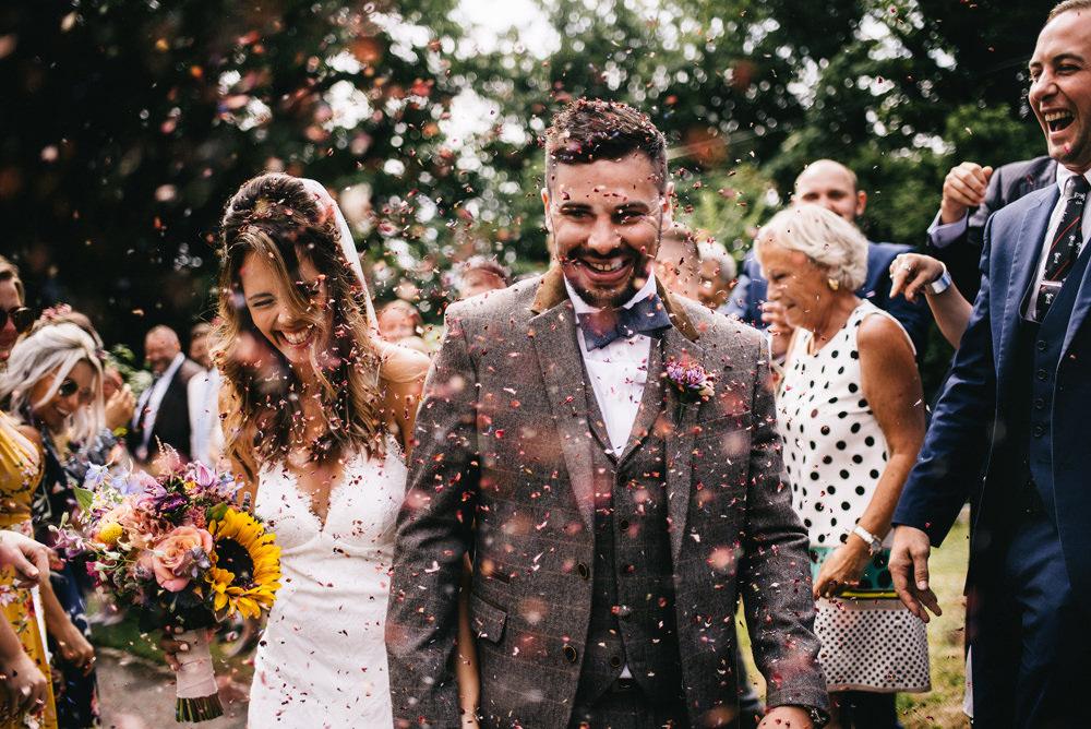 Confetti Throw Farm Wedding Alex Tenters Photography