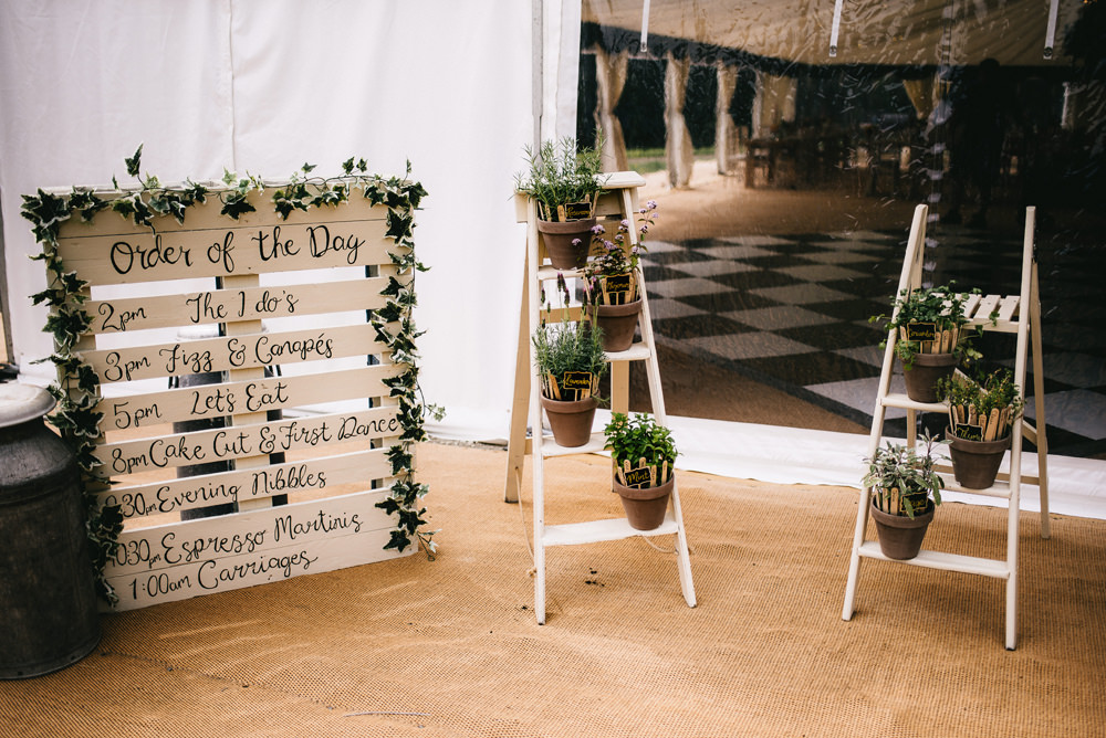 Wooden Ladder Decor Pallet Sign Signs Signage Farm Wedding Alex Tenters Photography