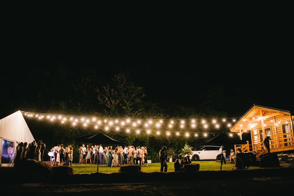 Festoon Lights Marquee Farm Wedding Alex Tenters Photography