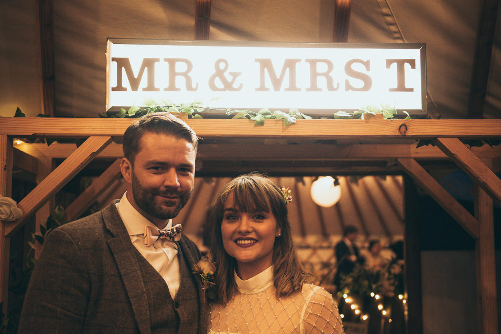 Cinema Light Sign Fron Farm Yurt Retreat Wedding Cat Arwel Photography