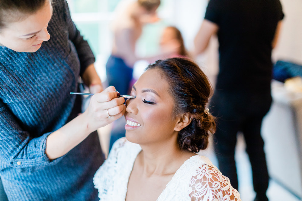 Bride Bridal Make Up Gate Street Barn Wedding Camilla J Hards