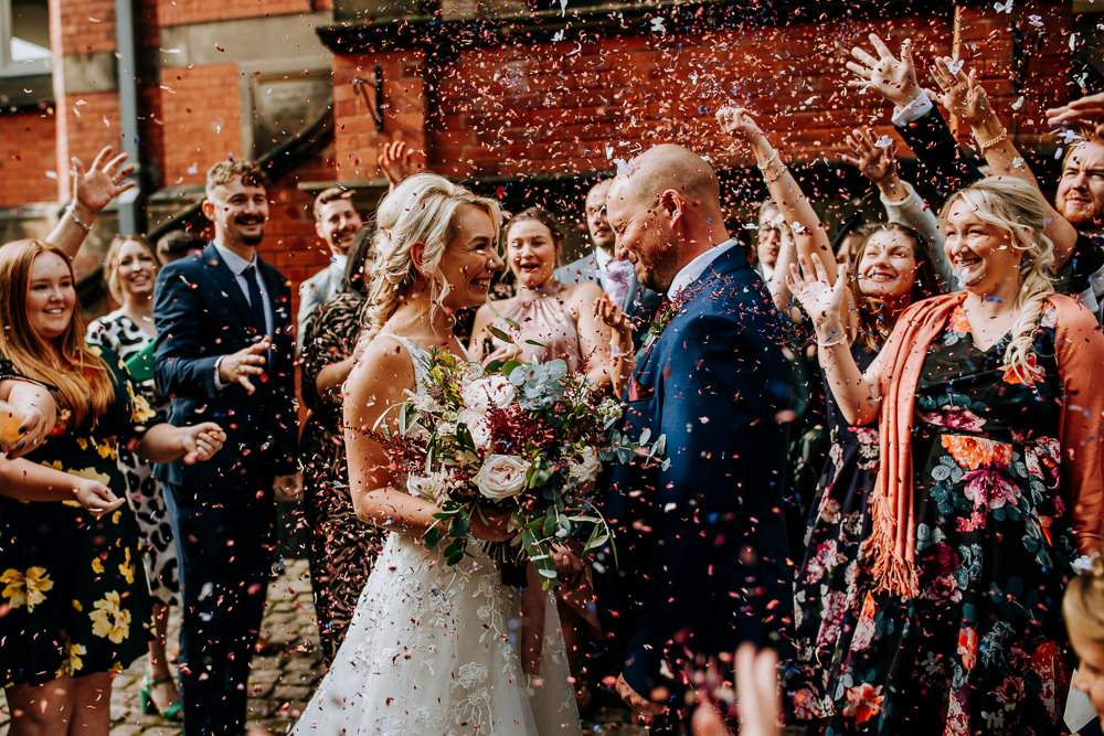 Confetti Throw Industrial Homemade Wedding M and G Photographic