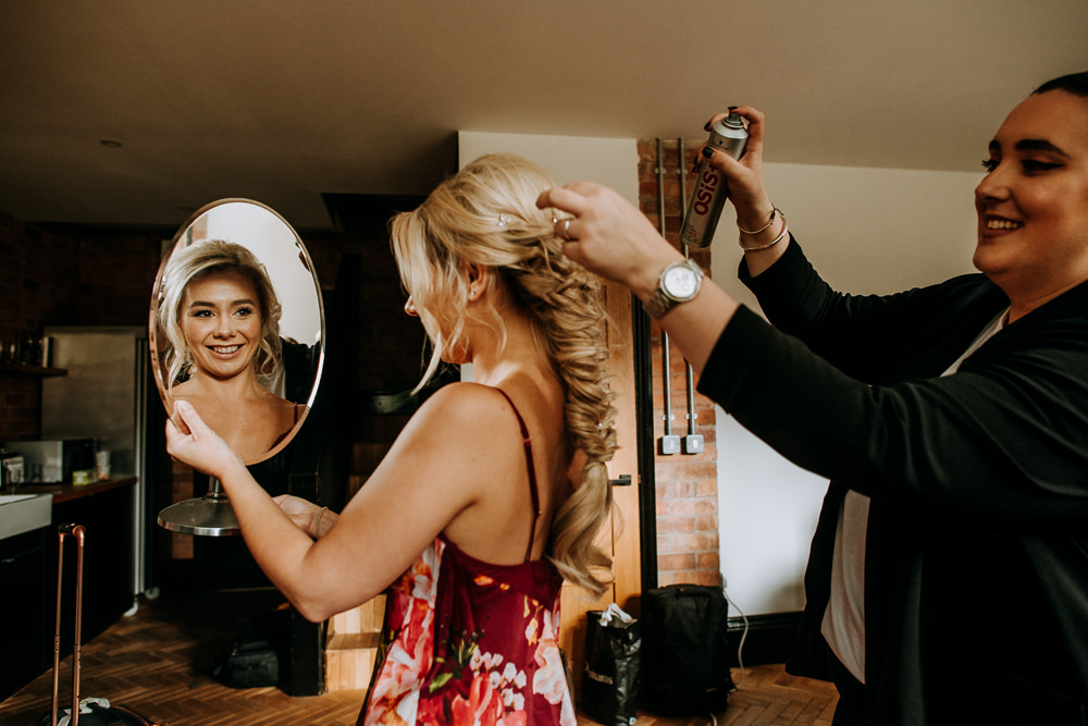 Bride Bridal Hair Plait Braid Boho Bohemian Industrial Homemade Wedding M and G Photographic