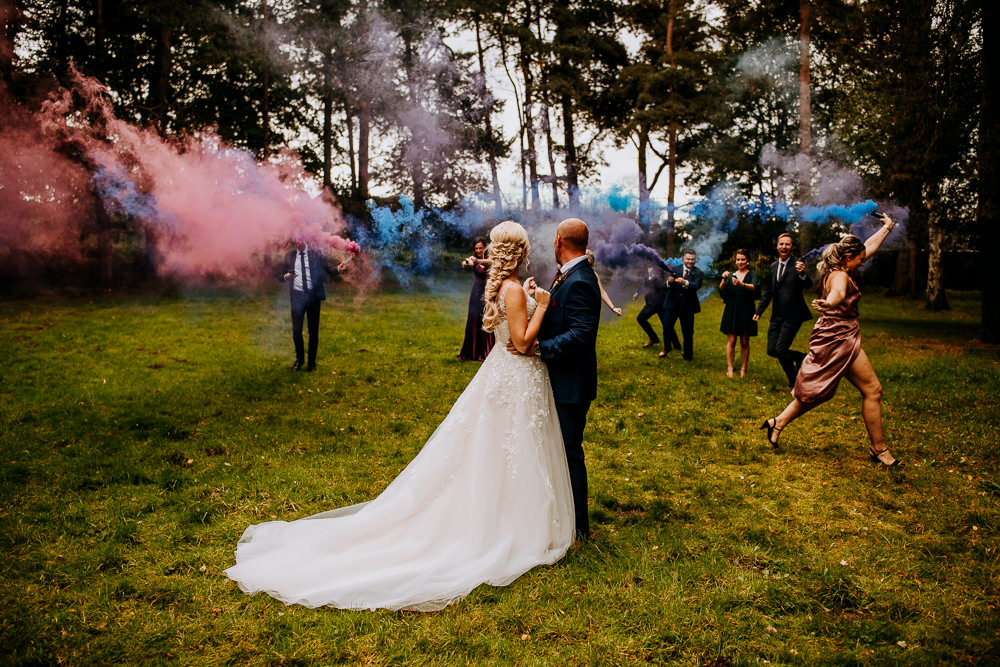 Smoke Bomb Photo Photographs Portraits Industrial Homemade Wedding M and G Photographic