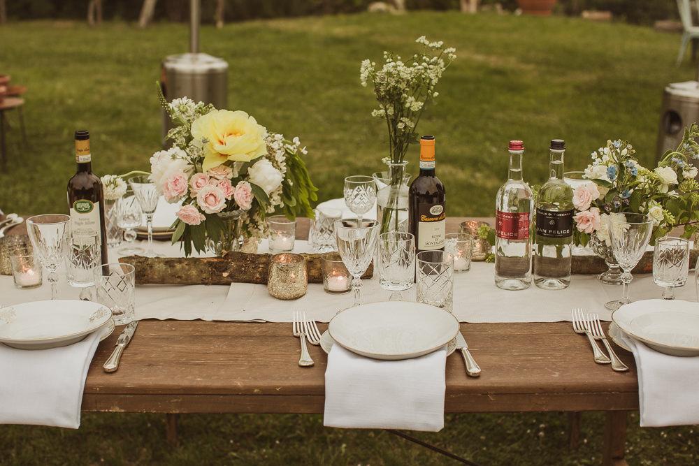 Table Flowers Decor Decoration Centrepice Italy Villa Wedding The Springles