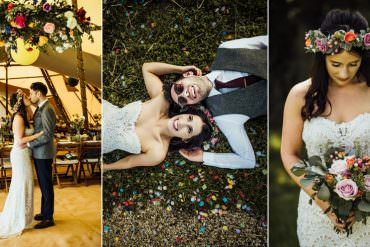 Totally Personal & Love Filled Tipi Wedding with So Much Style