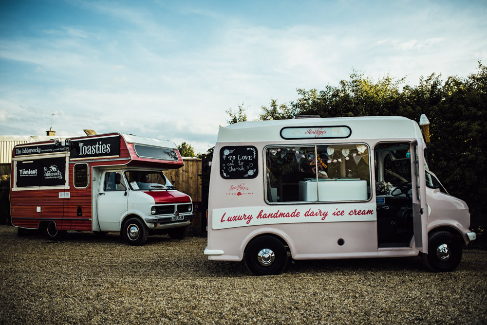 Food Trucks Vans Ice Cream Toasties Long Furlong Farm Wedding Michelle Wood Photographer