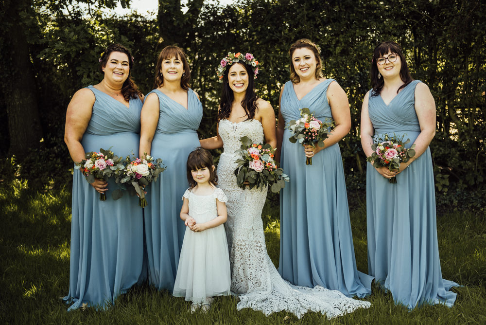 Bridesmaids Bridesmaid Dress Dresses Long Blue Long Furlong Farm Wedding Michelle Wood Photographer