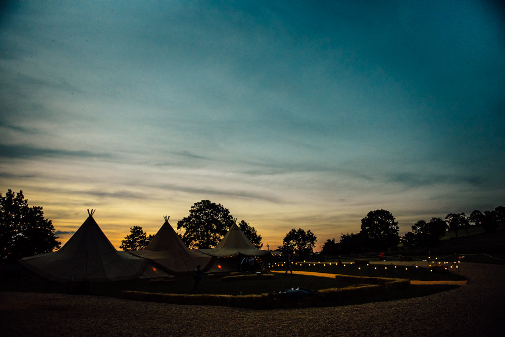 Tipis Lights Lighting Long Furlong Farm Wedding Michelle Wood Photographer