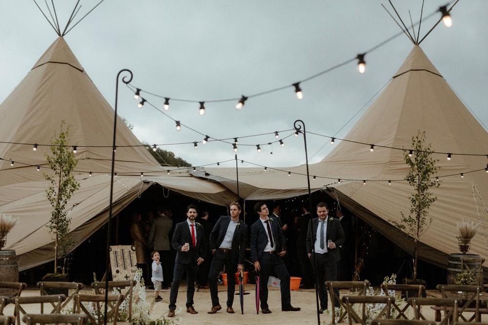 Groomsmen Suit Outdoor Wedding UK Olivia and Dan Photography