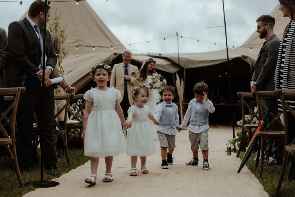 Flower Girls Page Boys Outdoor Wedding UK Olivia and Dan Photography