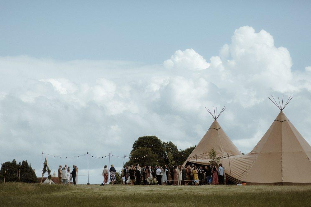 Tipi Outdoor Wedding UK Olivia and Dan Photography