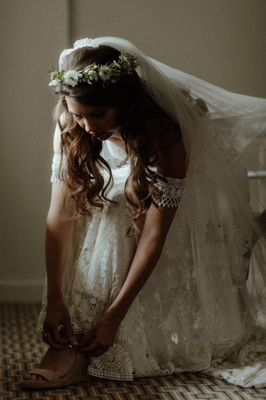 Bride Bridal Shoes Outdoor Wedding UK Olivia and Dan Photography