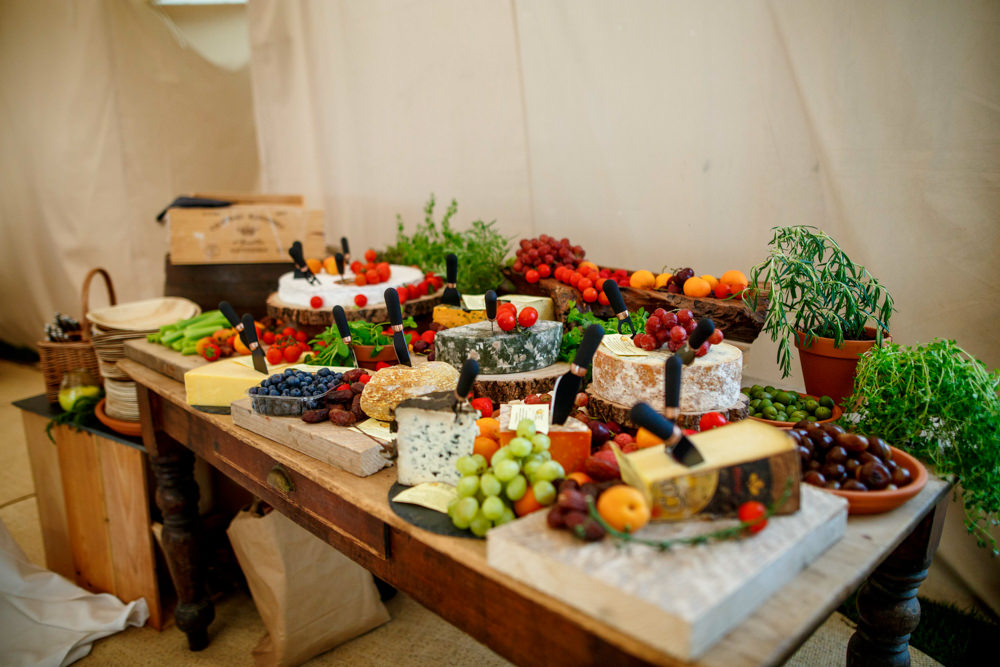 Grazing Table Serving Platter Buffet Cheese Board Park Farm Wedding Everybody Smile Photography