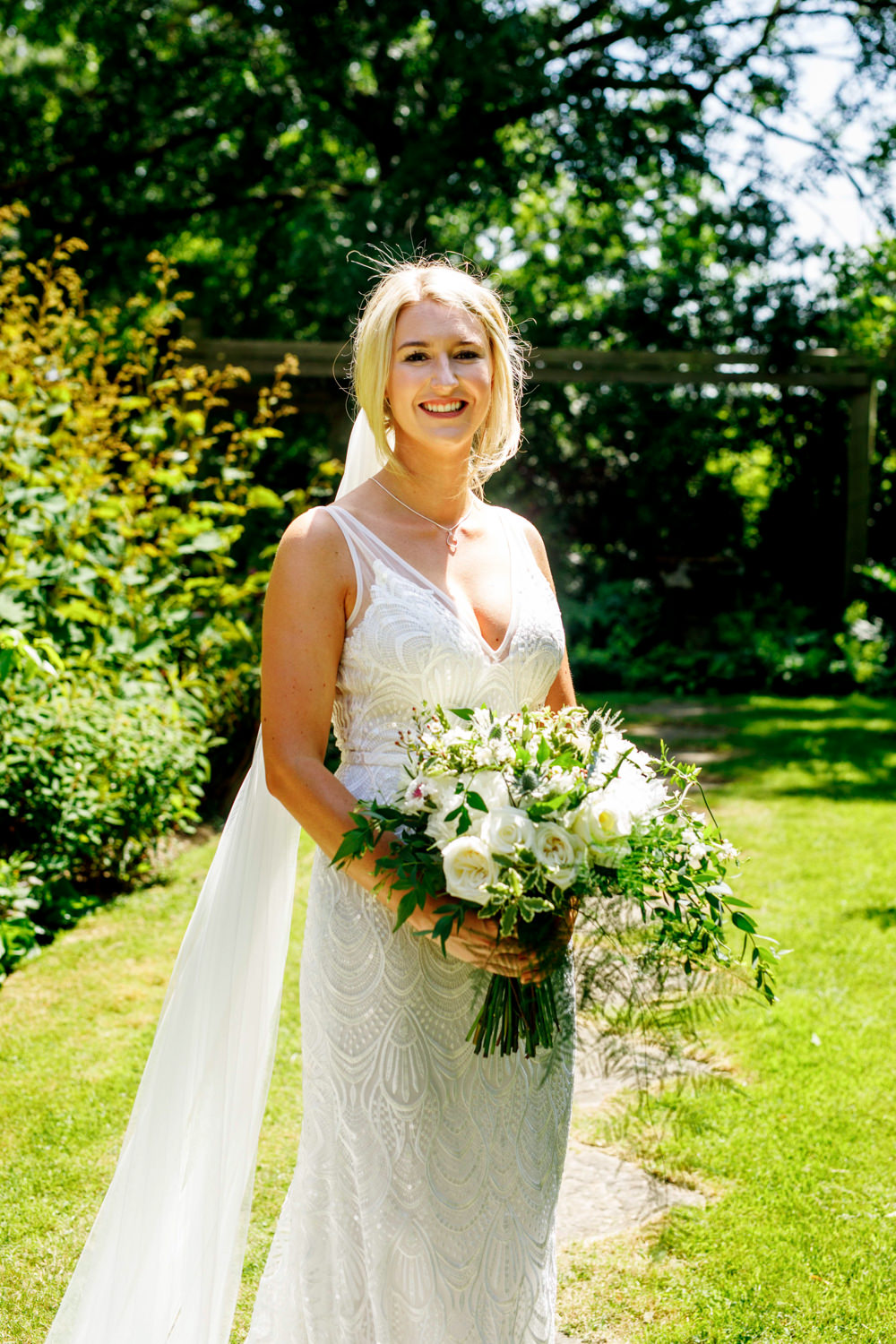 Bride Bridal Dress Gown Made With Love Lace Train Veil Park Farm Wedding Everybody Smile Photography
