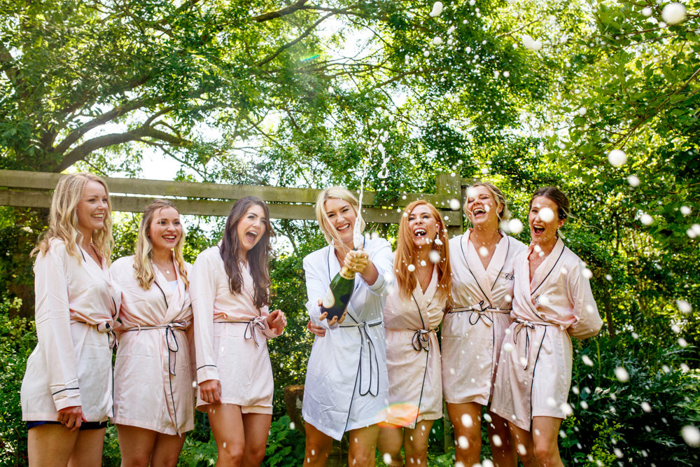 Bridesmaids Bride Bridal Dressing Gowns Robes Park Farm Wedding Everybody Smile Photography