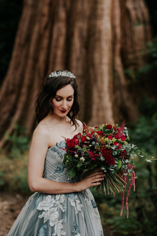 Bouquet Flowers Bride Bridal Red Rose Astilbe Amaranthus Snow White Wedding Inspiration Joasis Photography