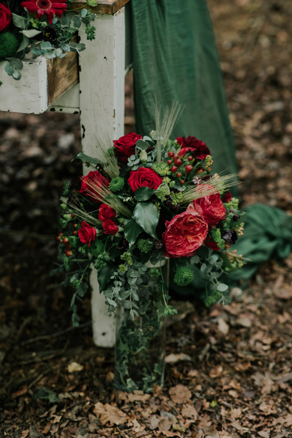 Table Flowers Red Rose Snow White Wedding Inspiration Joasis Photography