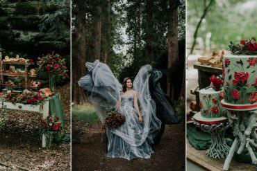 Dark & Decadent Snow White Wedding Inspiration