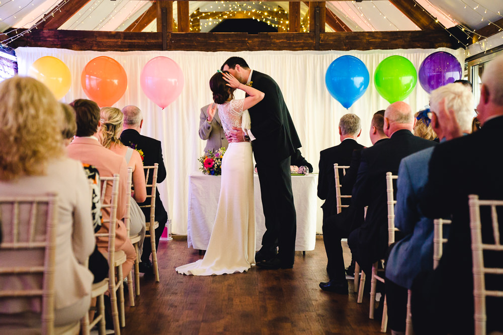 Balloons Ceremony Birtsmorton Court Wedding The Dignums