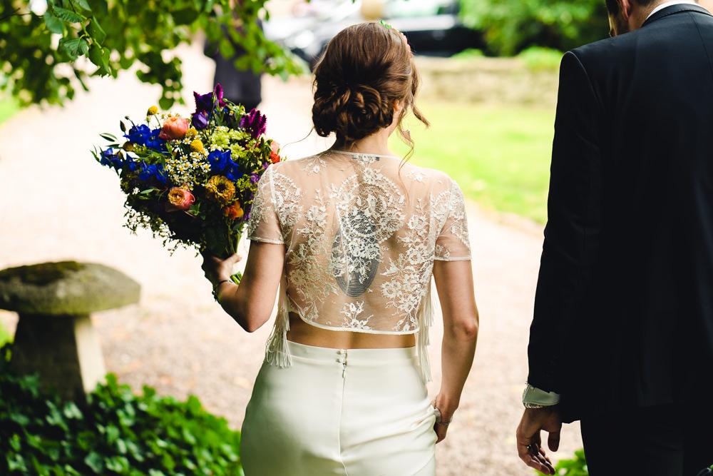 Bride Bridal Dress Gown Top Skirt Otaduy Tassels Birtsmorton Court Wedding The Dignums