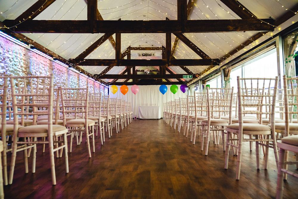 Barn Ceremony Balloons Birtsmorton Court Wedding The Dignums