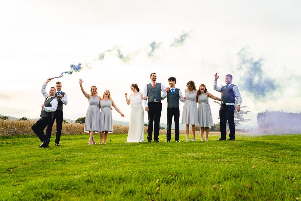 Smoke Bomb Photos Portraits Photographs Birtsmorton Court Wedding The Dignums