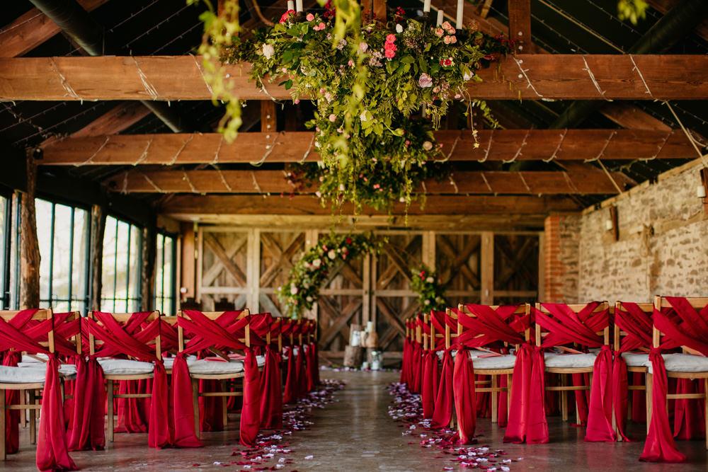 Chair Sashes Covers Backs Burgundy Barn Wedding Jarek Lepak