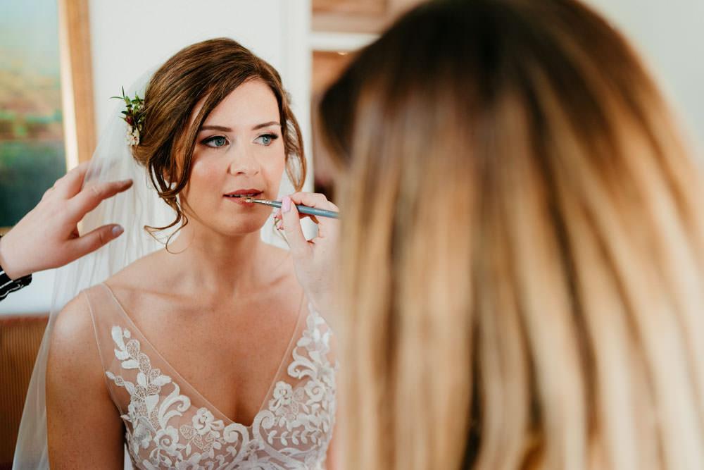 Bride Bridal Make Up Burgundy Barn Wedding Jarek Lepak