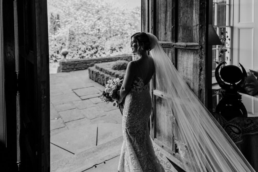 Dress Gown Bride Bridal Veil Lace Tara Lauren Blush Burgundy Barn Wedding Jarek Lepak