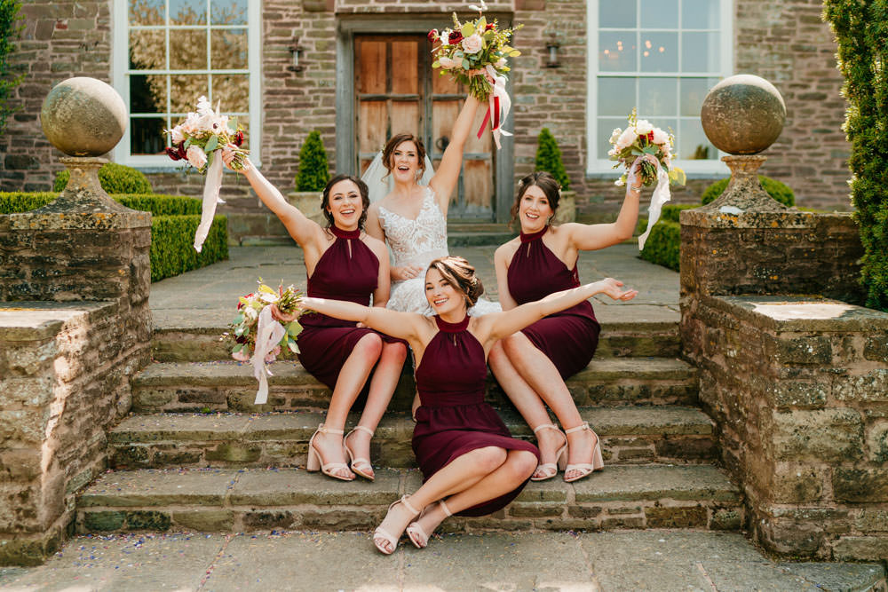 Bridesmaids Bridesmaid Dress Dresses Bouquets Burgundy Barn Wedding Jarek Lepak